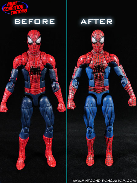 New Spider Man 2 Toys : Custom amazing spider man w magnetic feet action