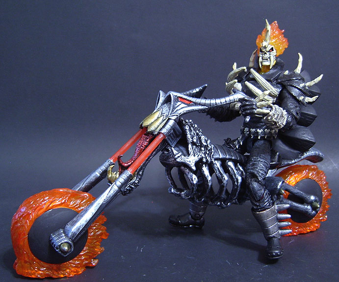Custom Vengeance from Ghost Rider, with custom motorcycle