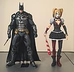 Repainted DC collectibles Arkahm Knight Batman and Harley Quinn-image.jpg